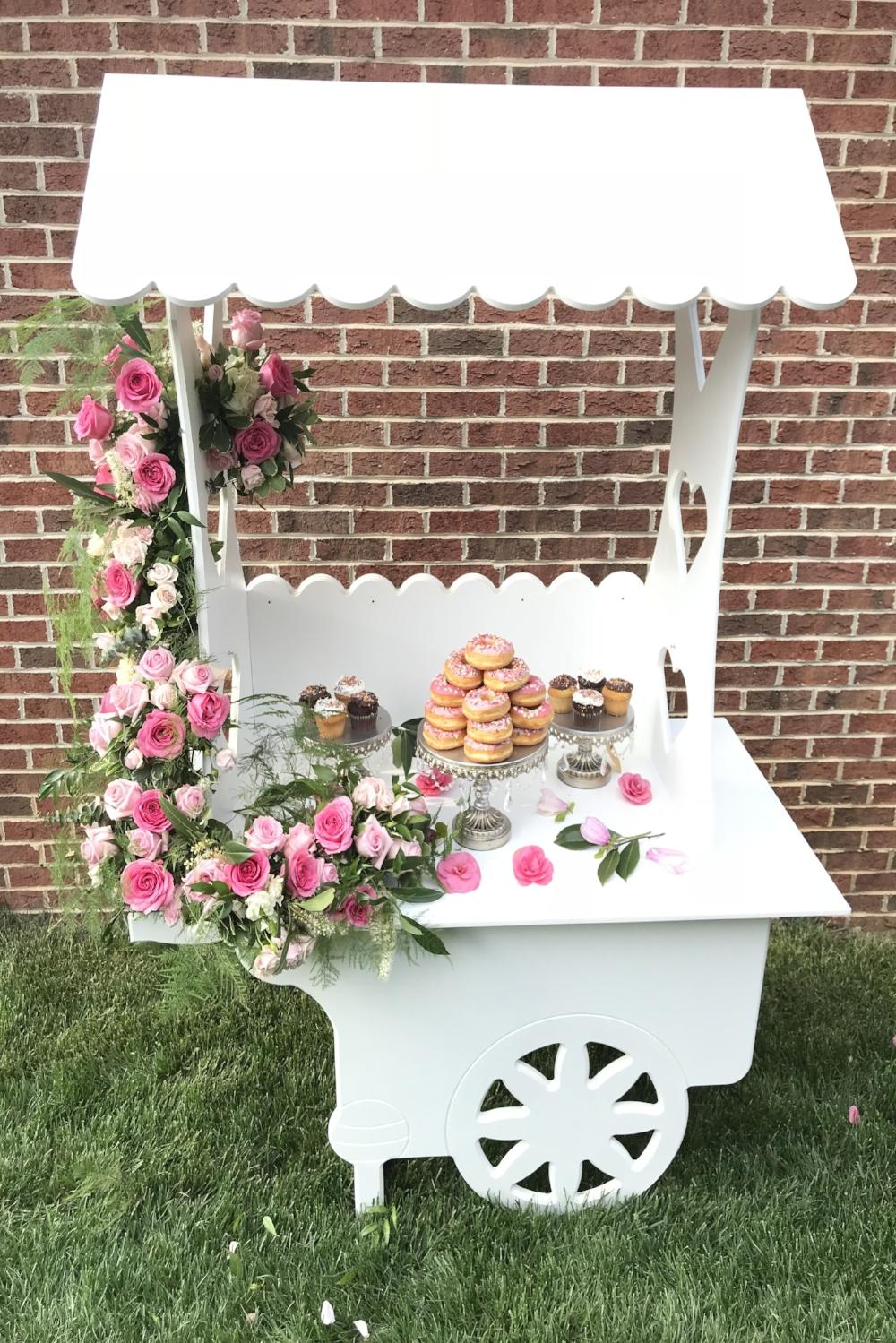 Custom Flower Cart -