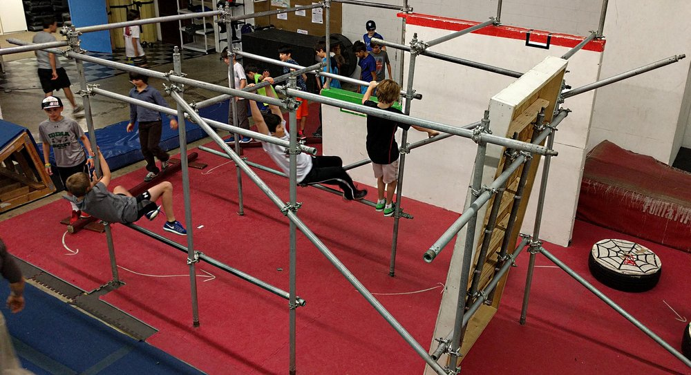 Activites - Obstacle CoursesParkour/Ninja Warrior ChallengesParkour Classes to Learn Specific SkillsGames (Tag, Ground is Lava, Capture the Flag, etc.)Free Time to Practice & PlayLunch Break