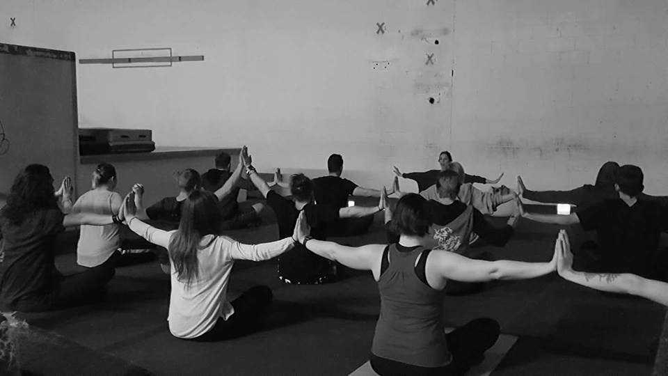 Our meditative yoga workshop after Dan's passing last year.