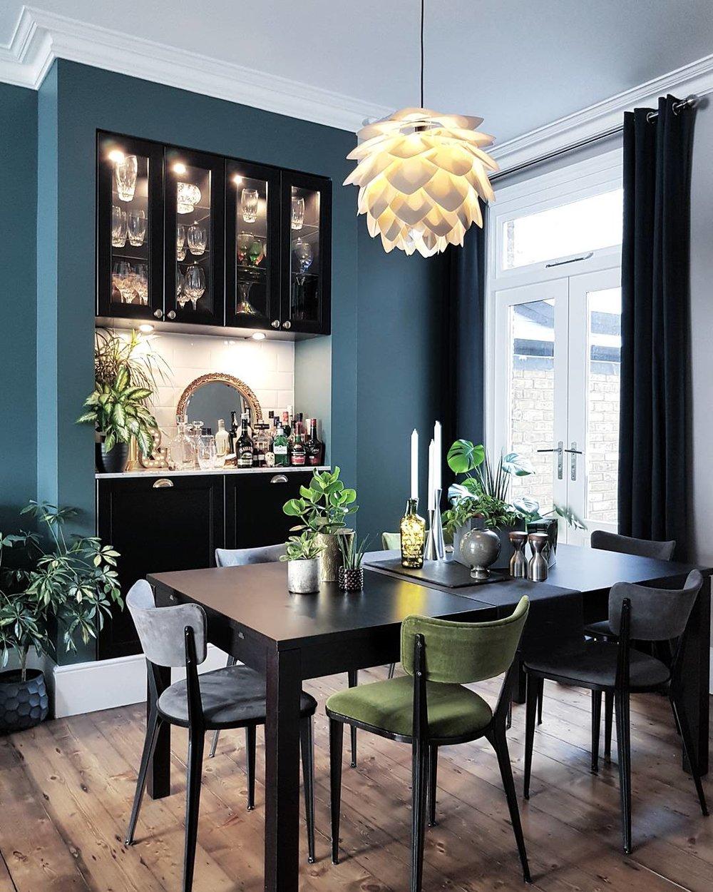 Table - Ikea ..... Pendant shade - royaldesign.co.uk