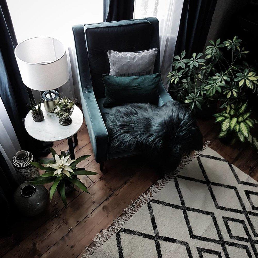 Chair - Made.com ...... Sheepskin - Cowboykate ....... Vases - Abigail Ahern