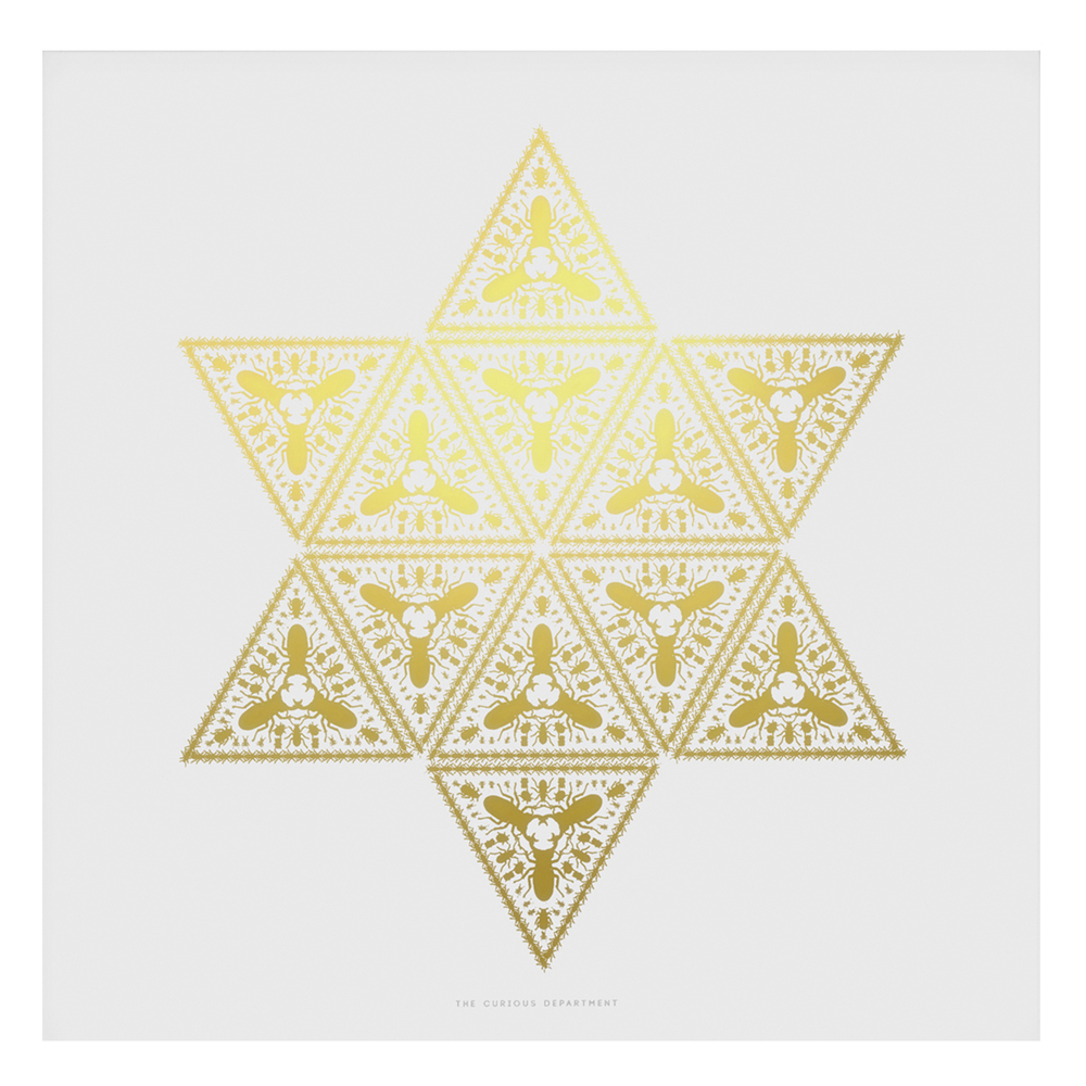 Gold/White Beetleguise Star Print £30.00 -  The Curious Department