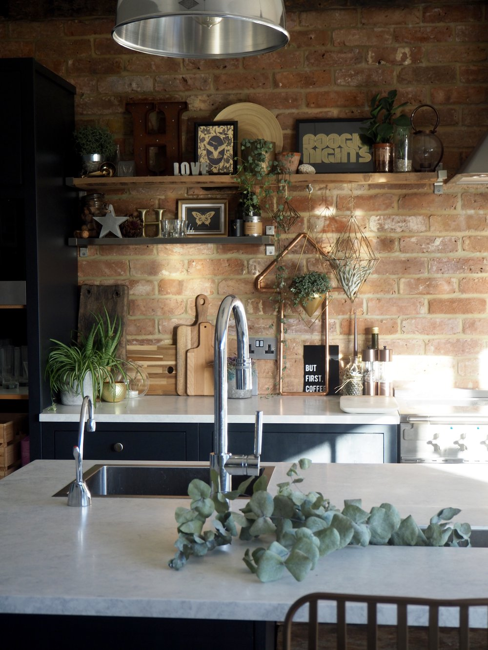 The Way The Metallics, Plants And Natural Textures Sit With The Brick On  The Shelves In The Kitchen Make It One Of My Favourite Spots In My Home.