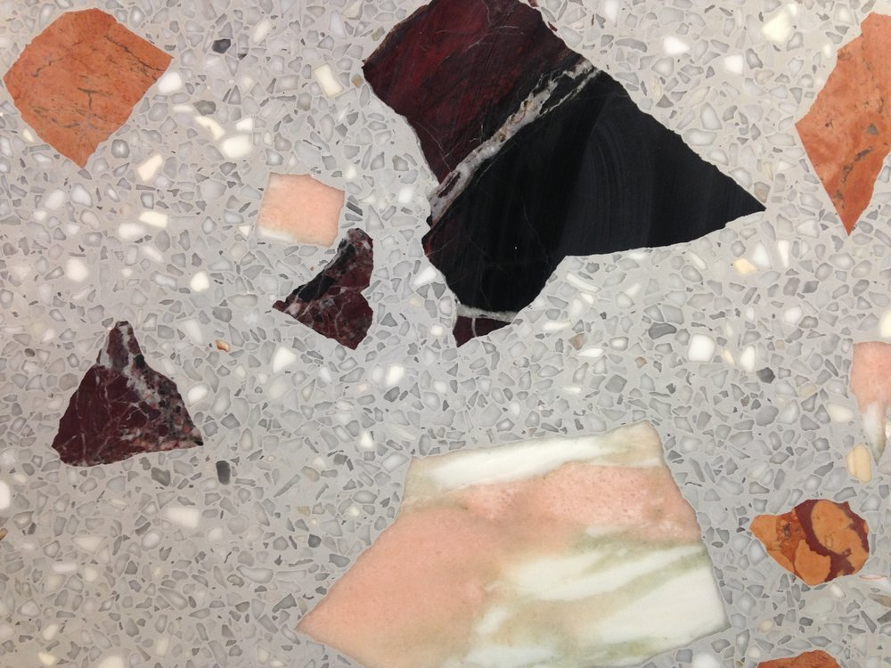 Diespeker & Co  is a specialist supplier of natural stone and man-made materials for flooring, tiles, cladding, worktops and treads. They recently created this beautiful resin based terrazzo for the countertops in the new flagship store of contemporary fashion brand, Whistles.    www.diespeker.co.uk