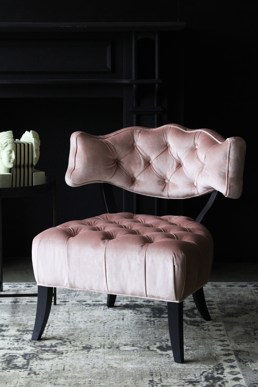 Cloud Velvet Chair - Blush Pink £650    www.rockettstgeorge.co.uk