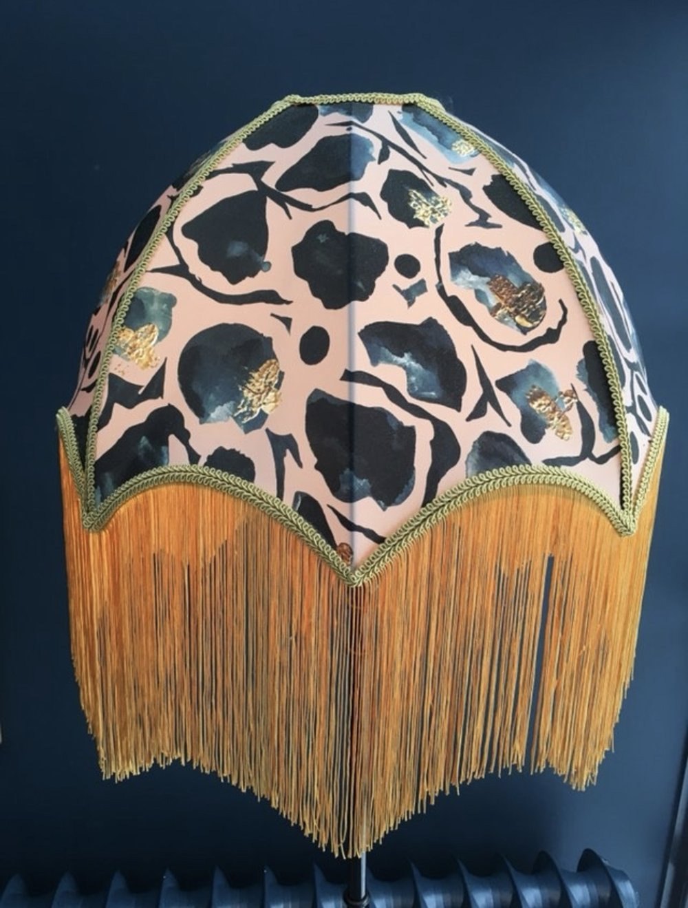 This gorgeous fringed lampshade is from   Anna Hayman Designs   and was cleverly picked by Donna as it compliments all the colours in the room perfectly.......    @annahaymandesigns