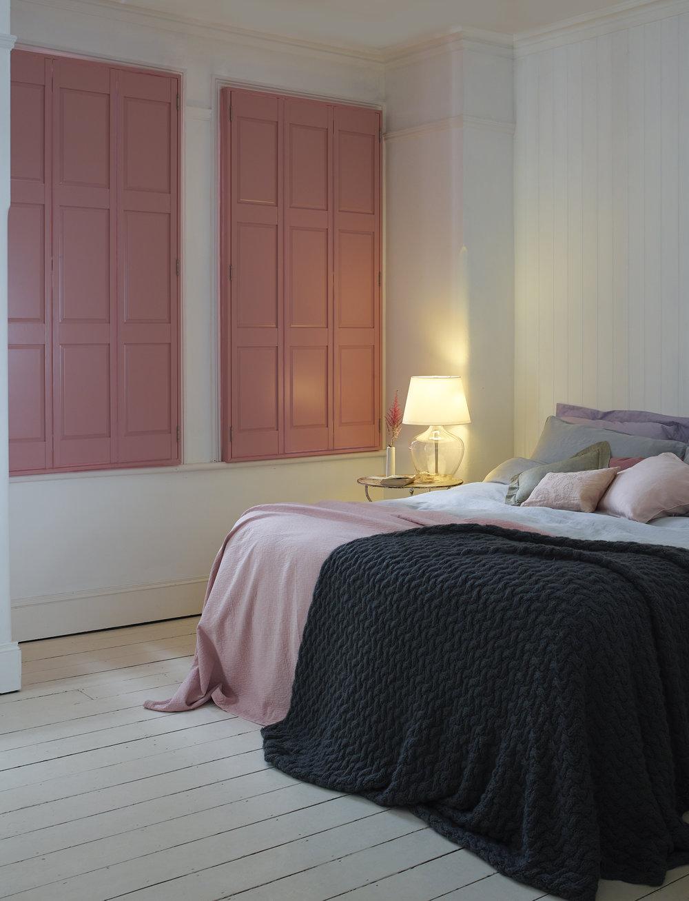 Pink Solid Blackout Shutter Bedroom Portrait - Shutterly Fabulous.jpg
