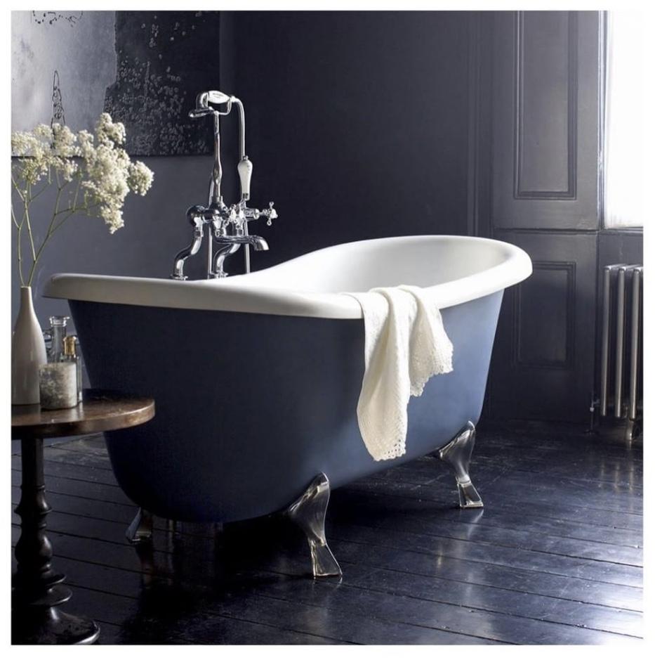 Burlington Bateau Freestanding Roll Top Bath    - UK Bathrooms £779