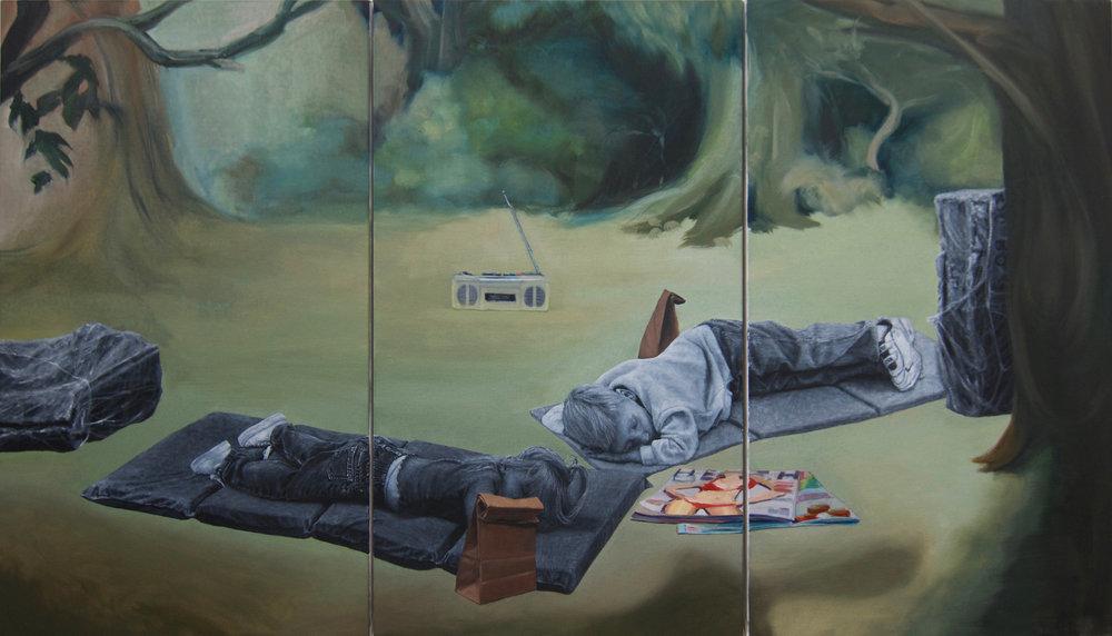 Nap time (Triptych)