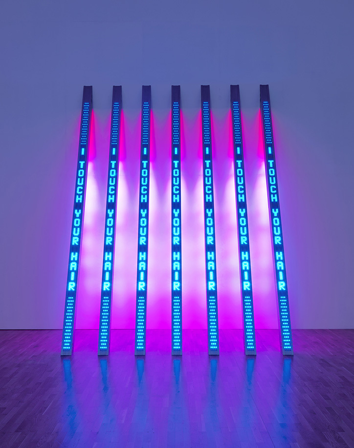 Jenny Holzer- Blue Purple Tilt, 2007 © 2018 Jenny Holzer, member:Artists Rights Society (ARS), New York. Tate:National Galleries of Scotland