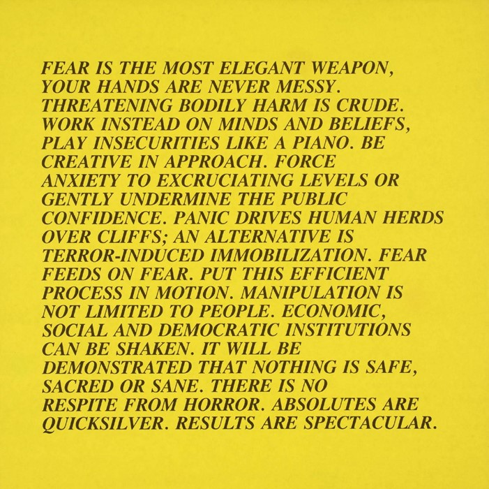 Jenny Holzer (no title) 1979-82Tate © Jenny Holzer