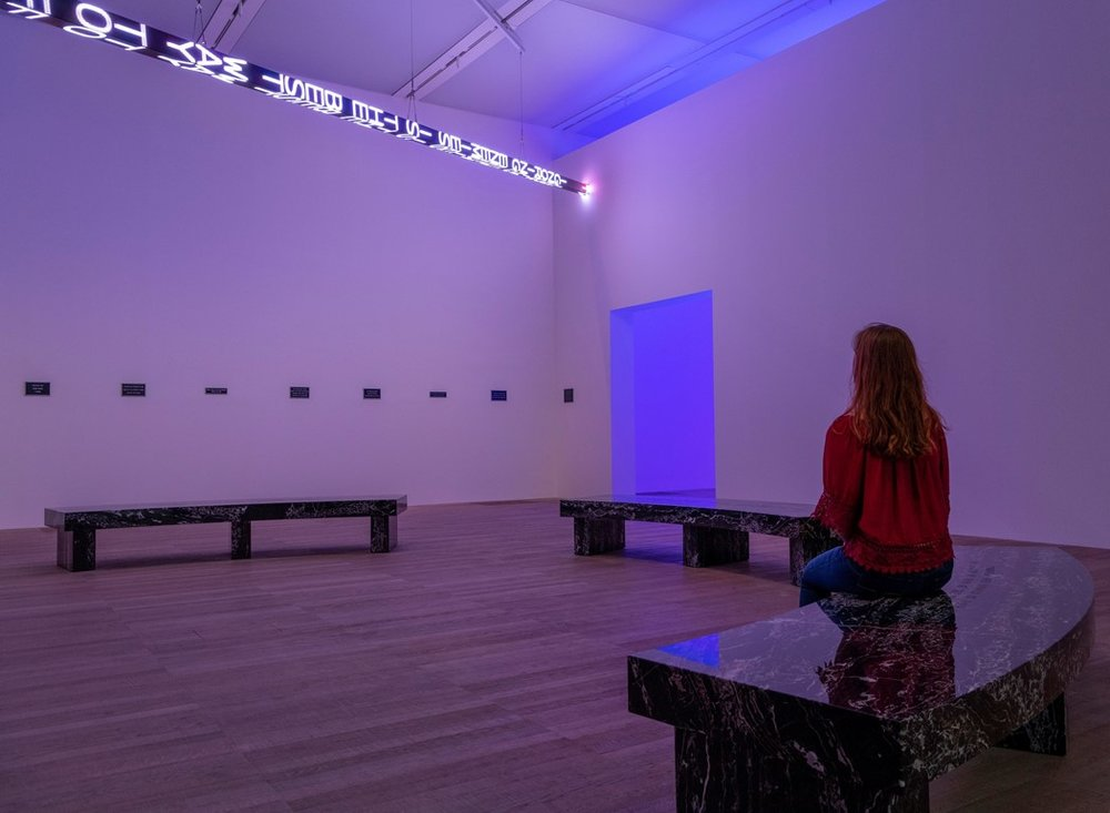 Installation view of ARTIST ROOMS- Jenny Holzer at Tate Modern (23 July 2018 – July 2019) © Tate (Andrew Dunkley)
