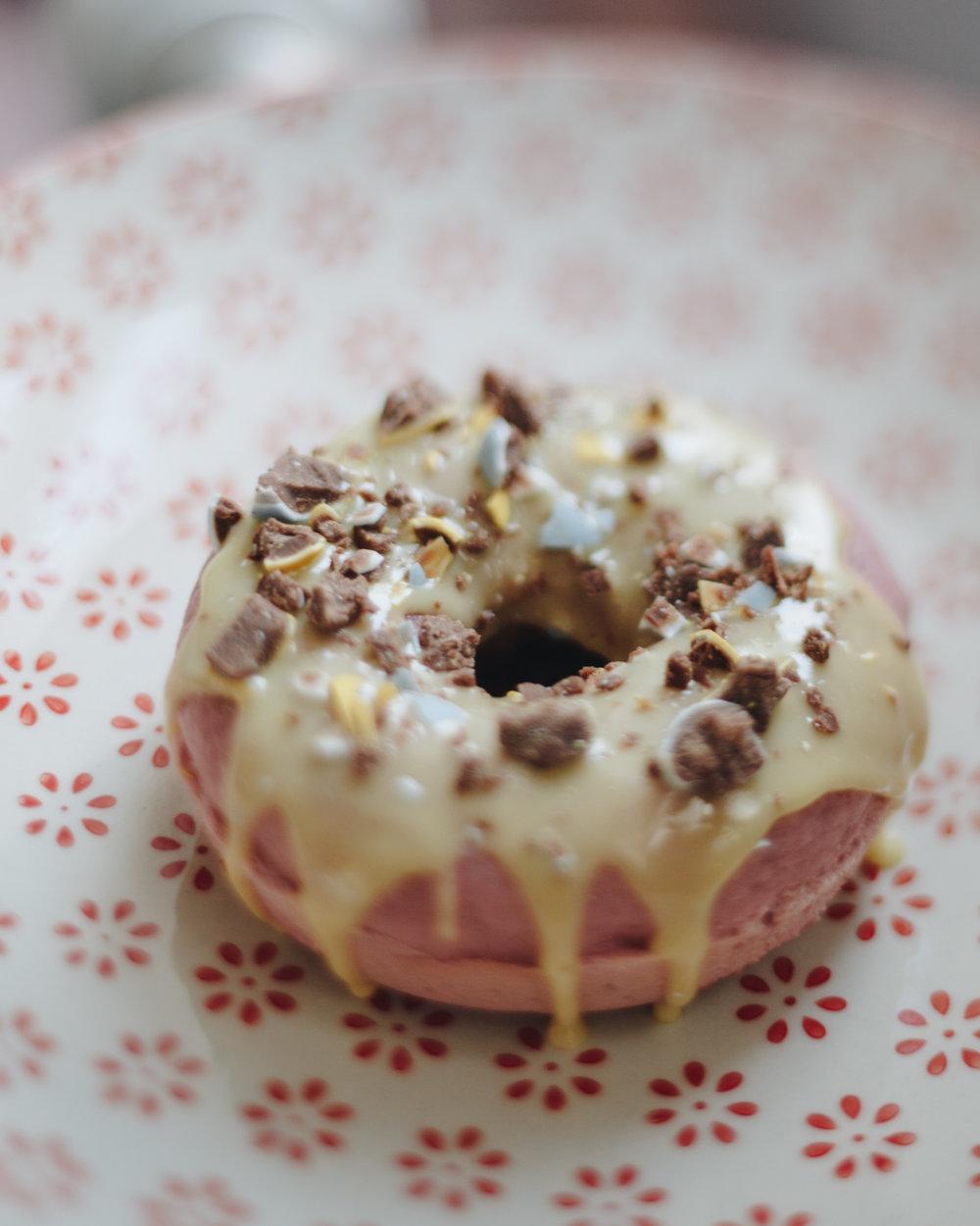 Vanilla Easter Springtime Donuts