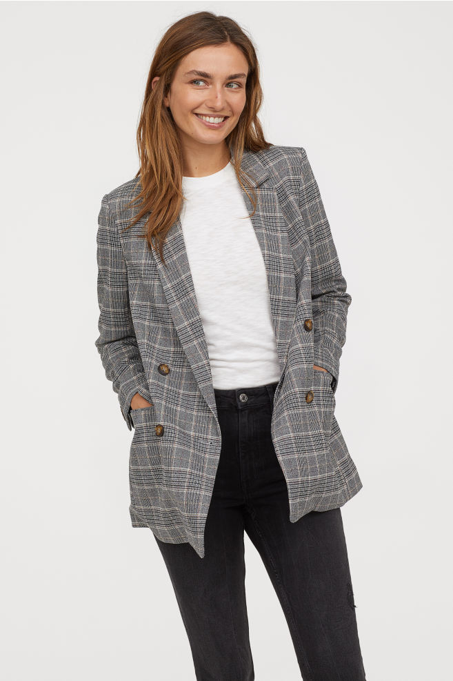 H&M Double Breasted Jacket     – $49.99