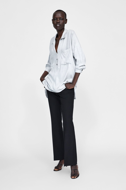 Zara Oversized Blouse with Pockets     – $39.90