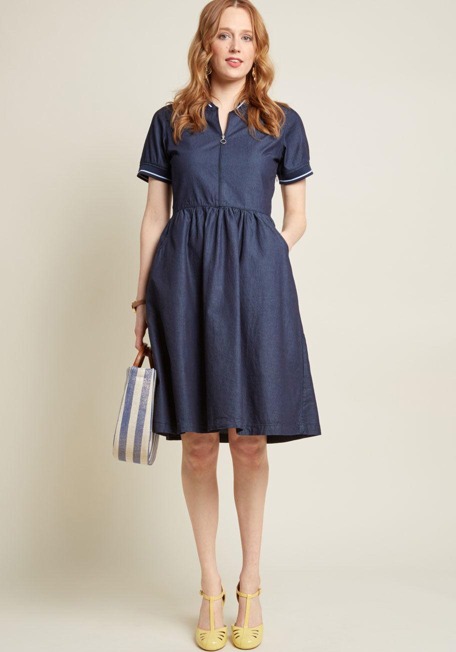 Modcloth Life of the Sporty Dress     – $49.99