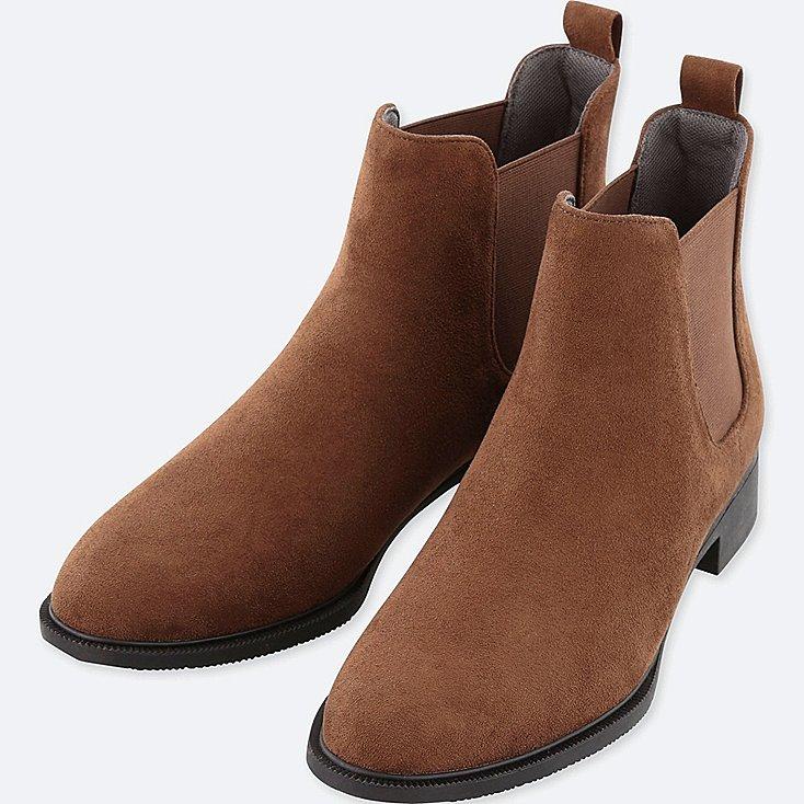 Uniqlo Side Gore Faux Suede Short Boots     – $39.90
