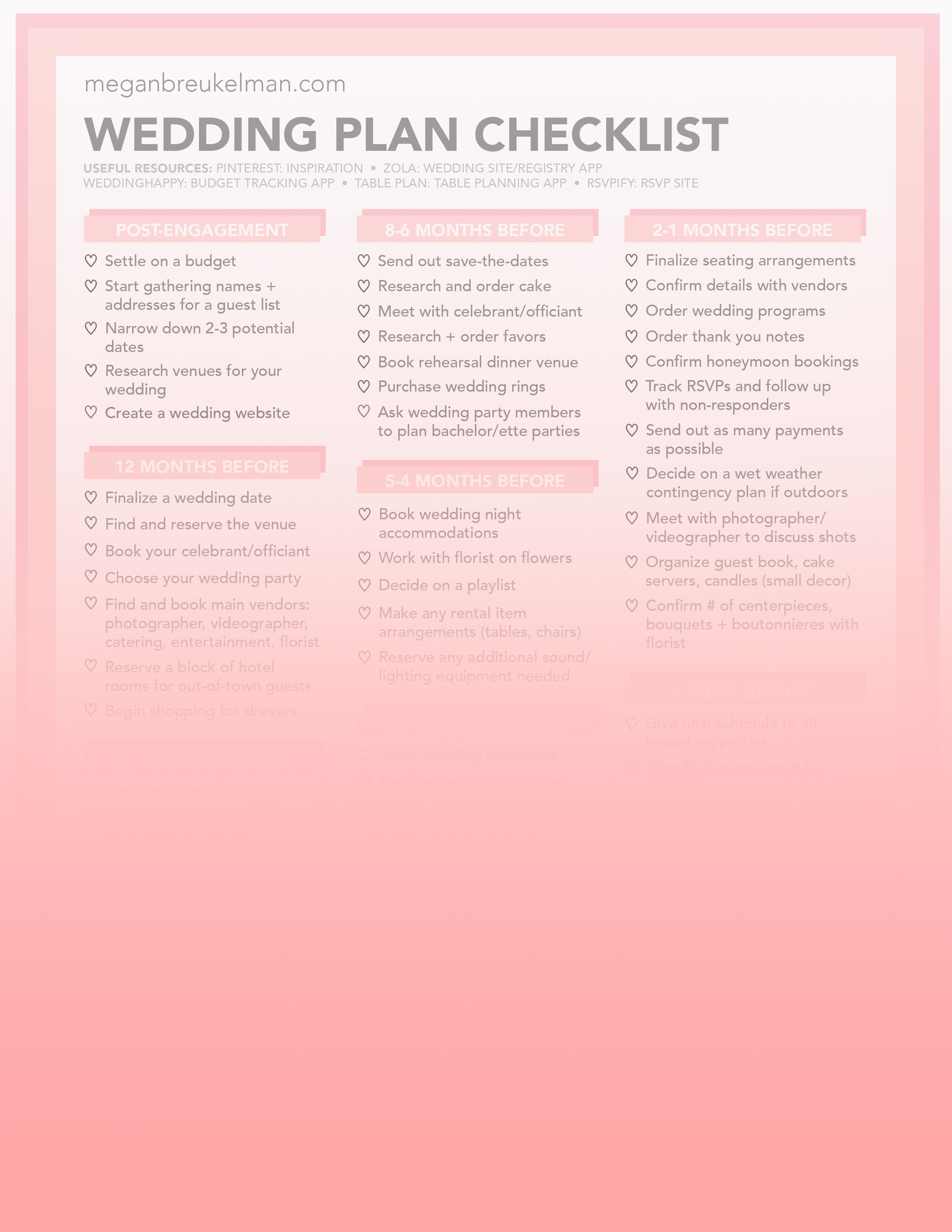 picture about Printable Wedding Planning called Marriage Countdown Record - Absolutely free Printable Wedding day