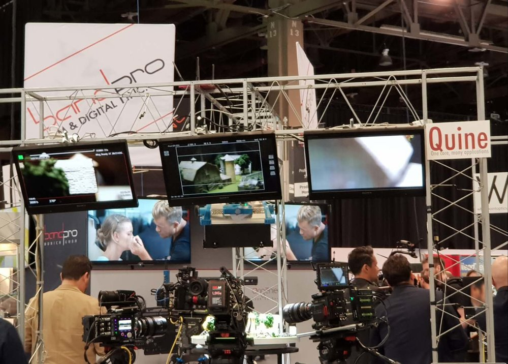 Quine @ BandPro Booth NAB 2018
