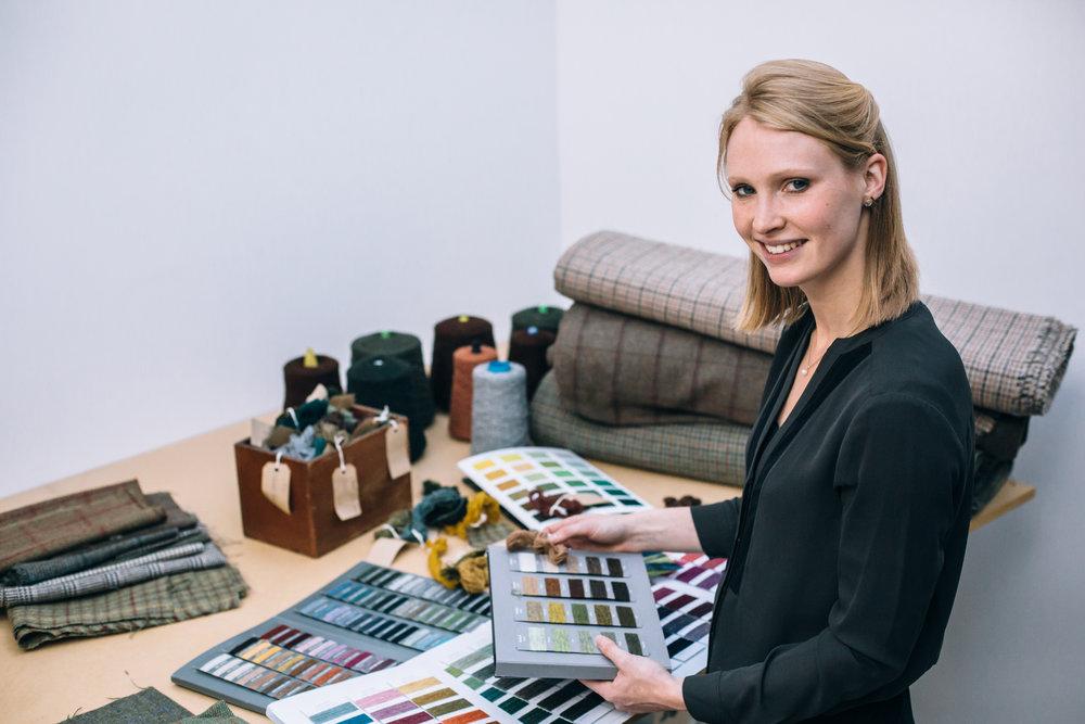 Tweed designer Araminta Campbell - Photo : Ciara Menzies Photography