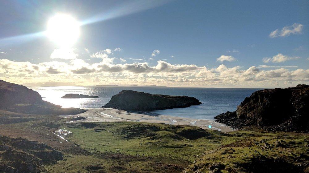 Une des belles plages du sud de l'île de Mull - Photo : Nicolas Loisel