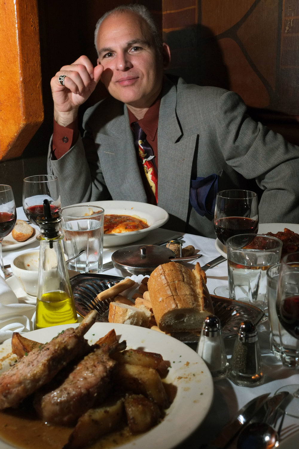 The man behind the name, James Ventrella celebrating new year's eve (and his birthday) at The Italian Village restaurant in Chicago. Photograph by Joel Paterson.
