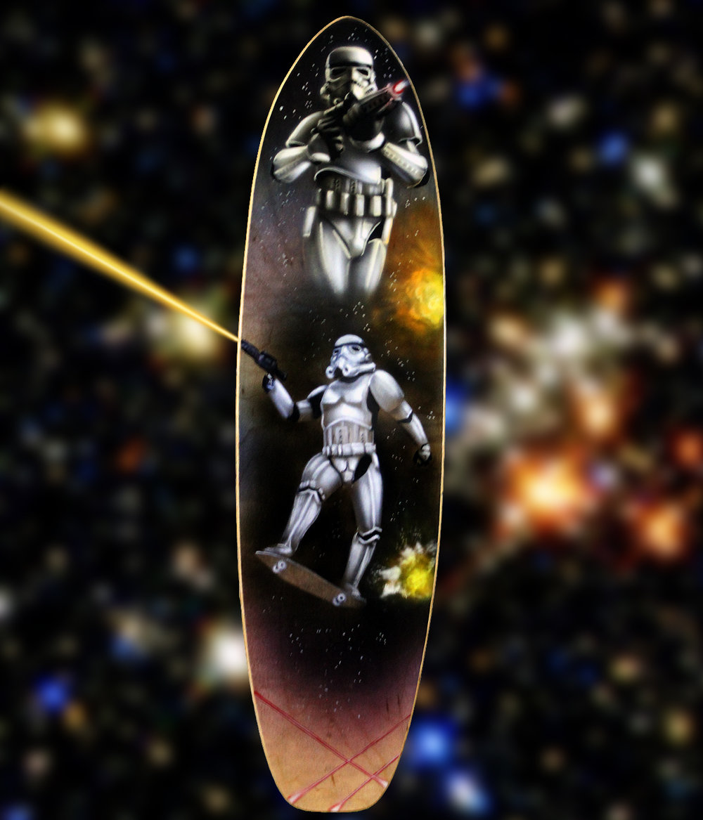 Storm Trooper Skateboard Deck