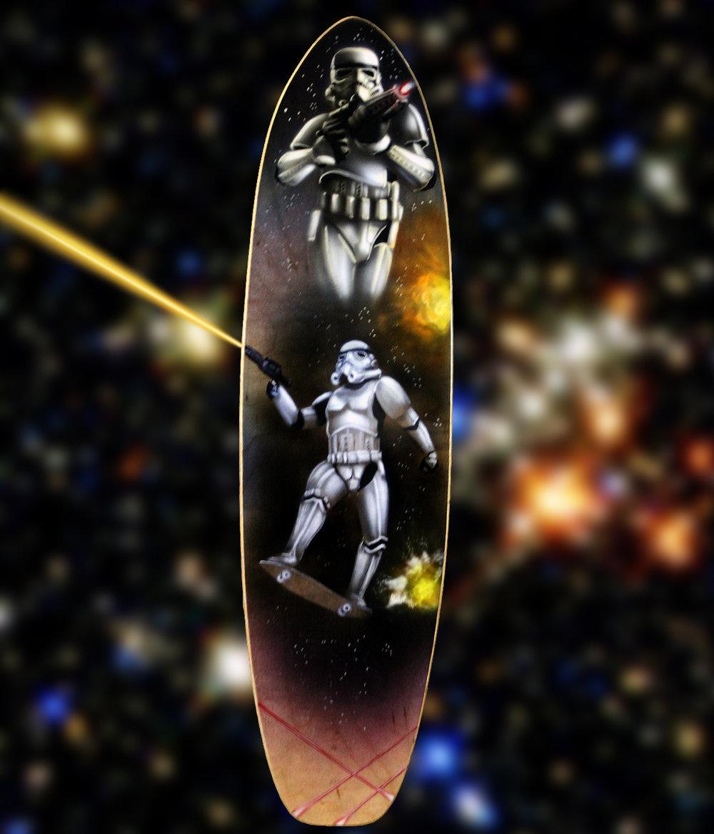 Storm Trooper Skateboard Deck