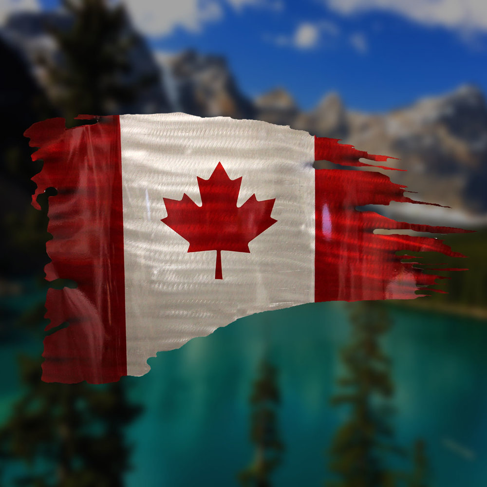 Rough Cut Canadian Flag