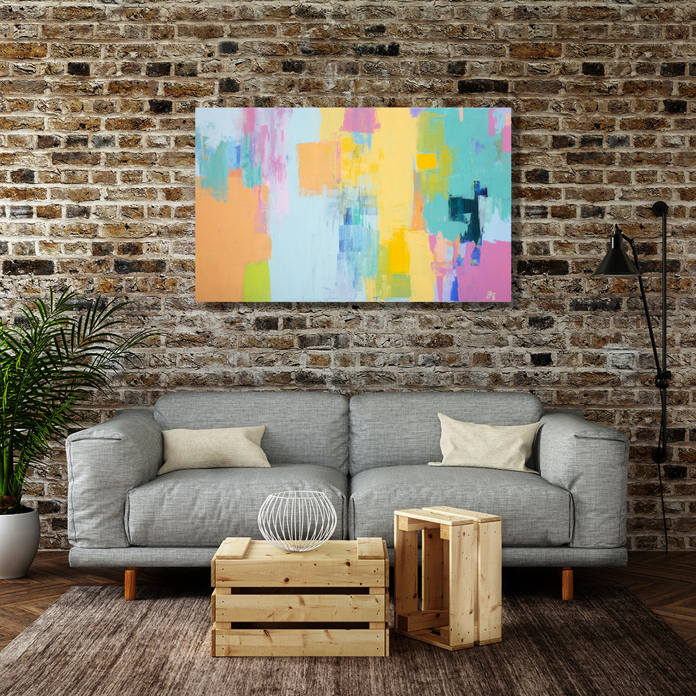Light up the room - with Jasmine Aras Original ART