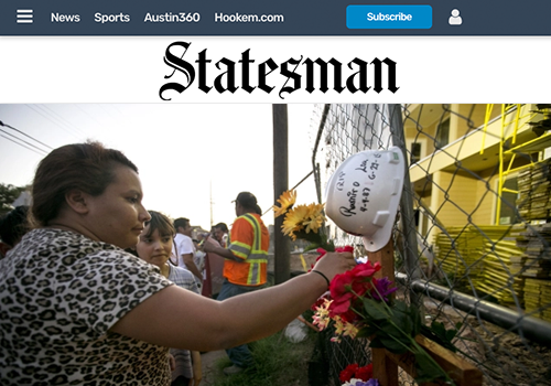 AUSTIN AMERICAN STATESMANA Heartfelt Goodbye to a Fallen Construction Worker - JULY 15, 2018