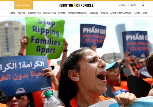 HOUSTON CHRONICLENew Mother Fears Trump Forces