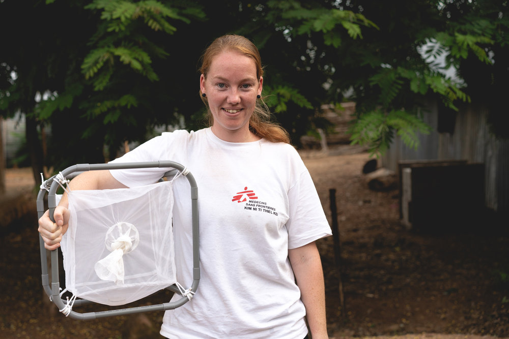 MSF entomologist Jeanine Loonen