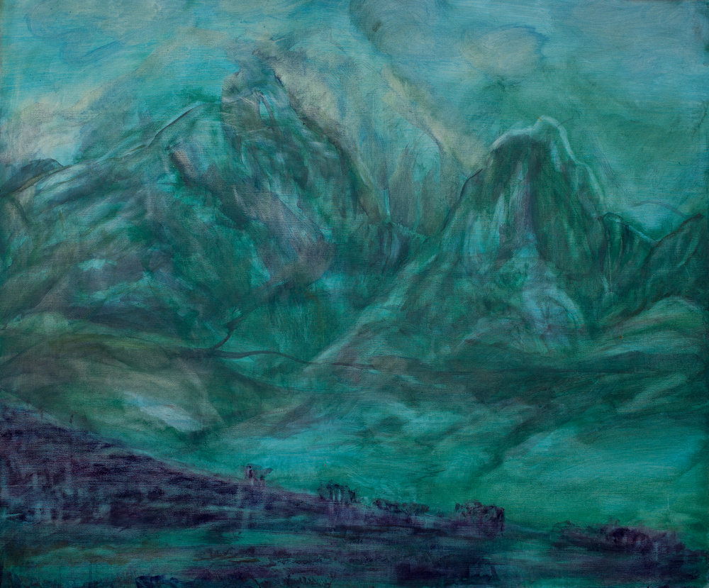 ' Langeberg Mountains'   Angelica Lüthi  Oil on canvas  900 x 725 mm  R 6 420.00 excl. vat