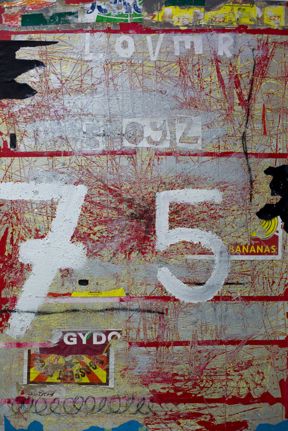 ' Getting Burned in the Day Light II'   Gideon Appah  Acrylic, wood glue and charcoal on canvas  975 x 25 x 149 mm  R 25 000.00 excl. vat