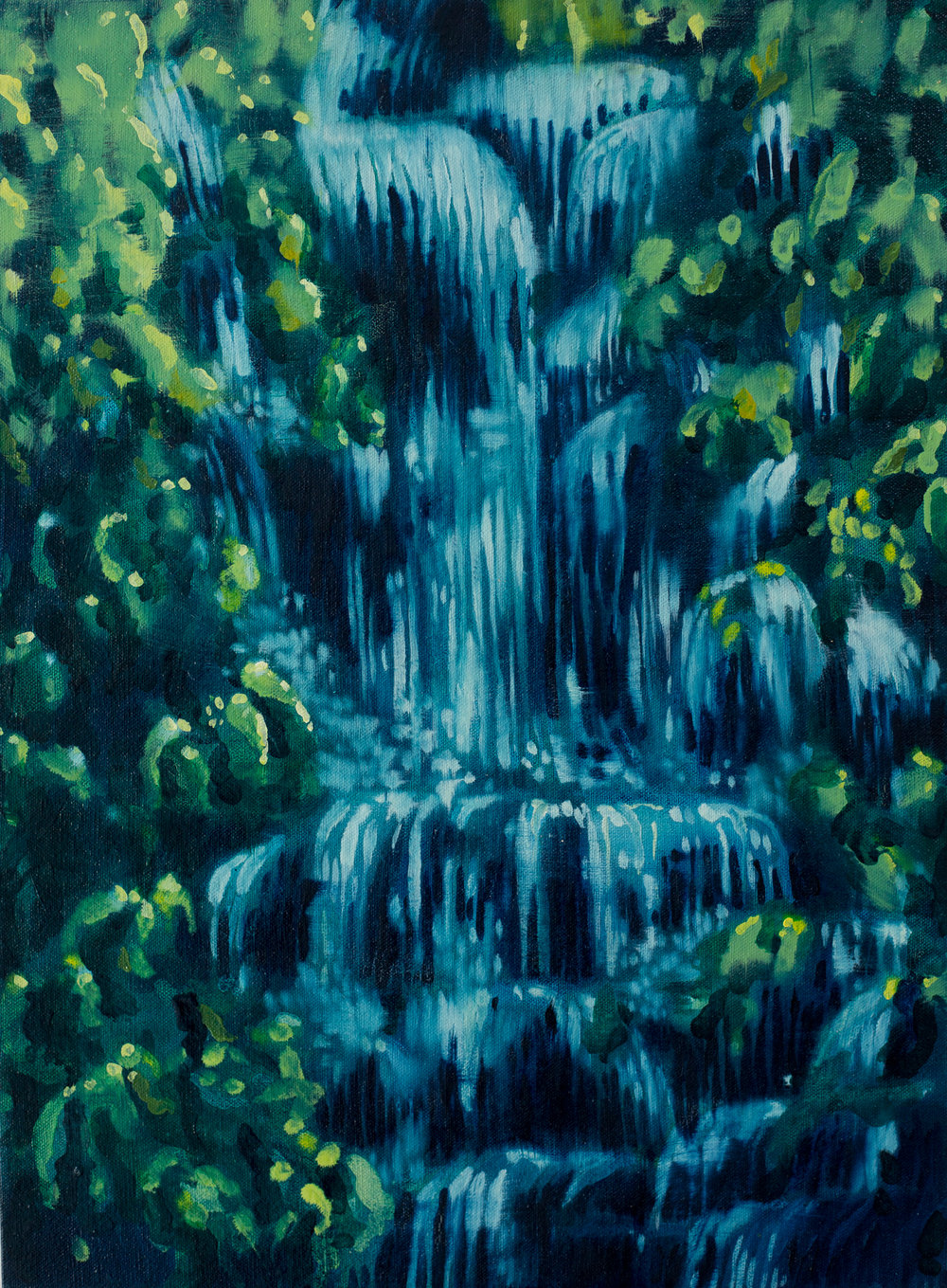 ' Where the River Still Runs' , Leila Walter, Oil on Canvas, 400 x 540 x 40 mm, R 4340.00 excl. vat.
