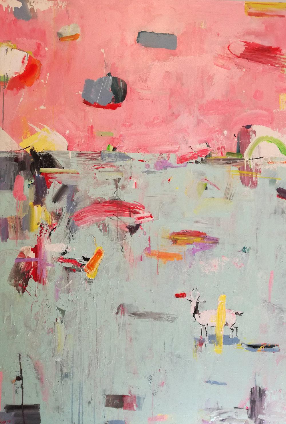' Landskap I'   Su Opperman  Mixed media on canvas  1540 x 1060 x 30 mm  R 18 000.00 excl. vat (SOLD)