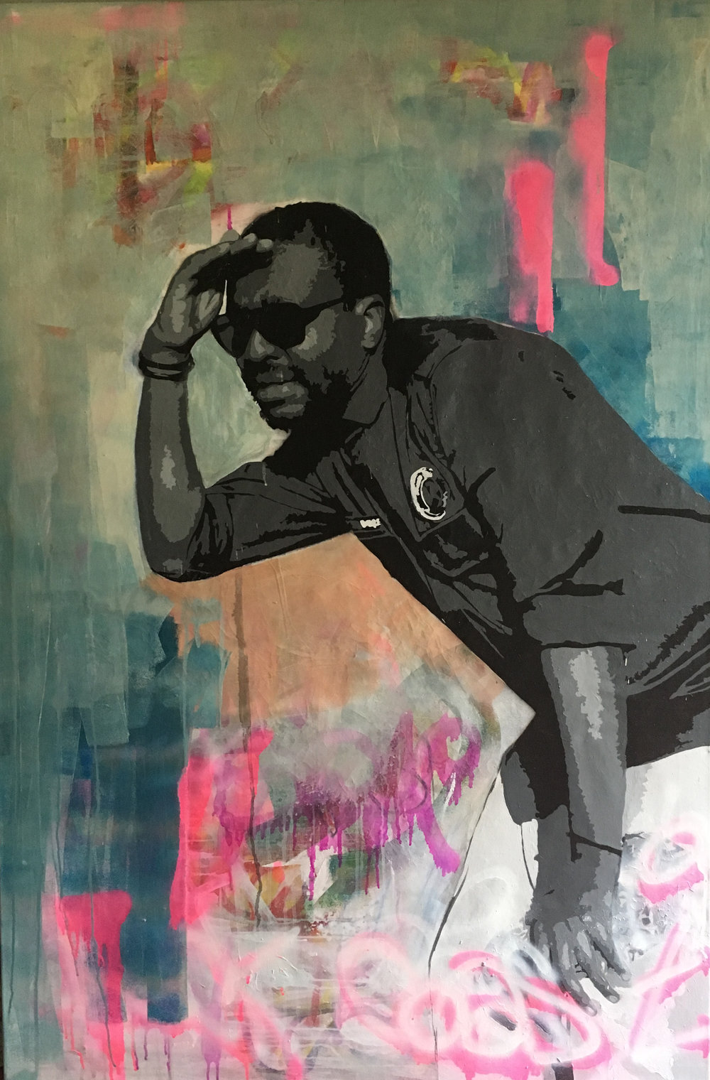 ' Check Coast 1 '  Ludumo Maqabuka Mixed media on canvas 1500 x 1000 x 30 mm  R 28 000.00 excl. vat