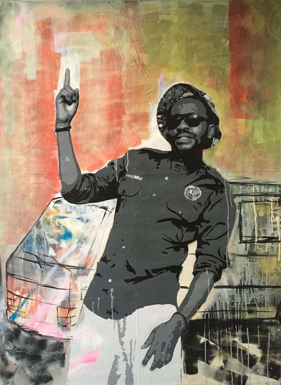 ' Jozi '  Ludumo Maqabuka 1480 x 1090 x 30 mm Mixed Media  R 28 000.00 excl. vat