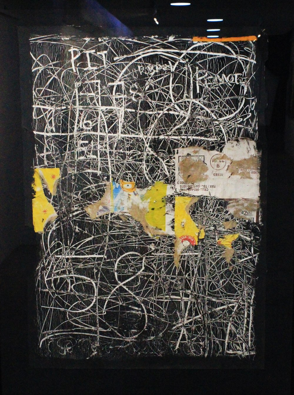 Faded Wall   Gideon Appah  Oil, mixed media and collage (framed)  R 25 000.00 excl. vat