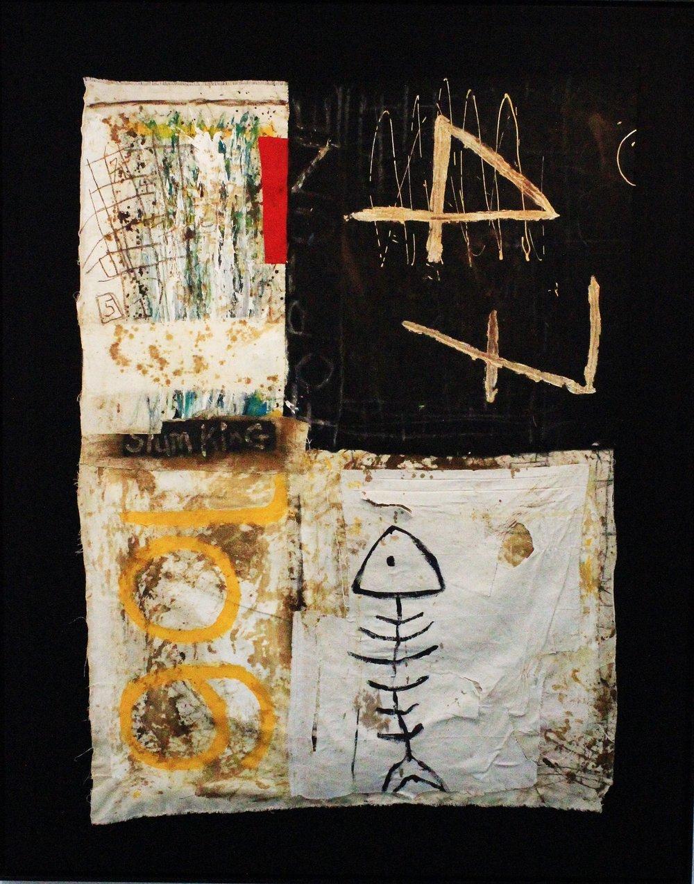 ' Old Doorway'   Gideon Appah  Mixed media (framed)  1970 x 1600 x 500 mm  R 40 000.00 excl. vat