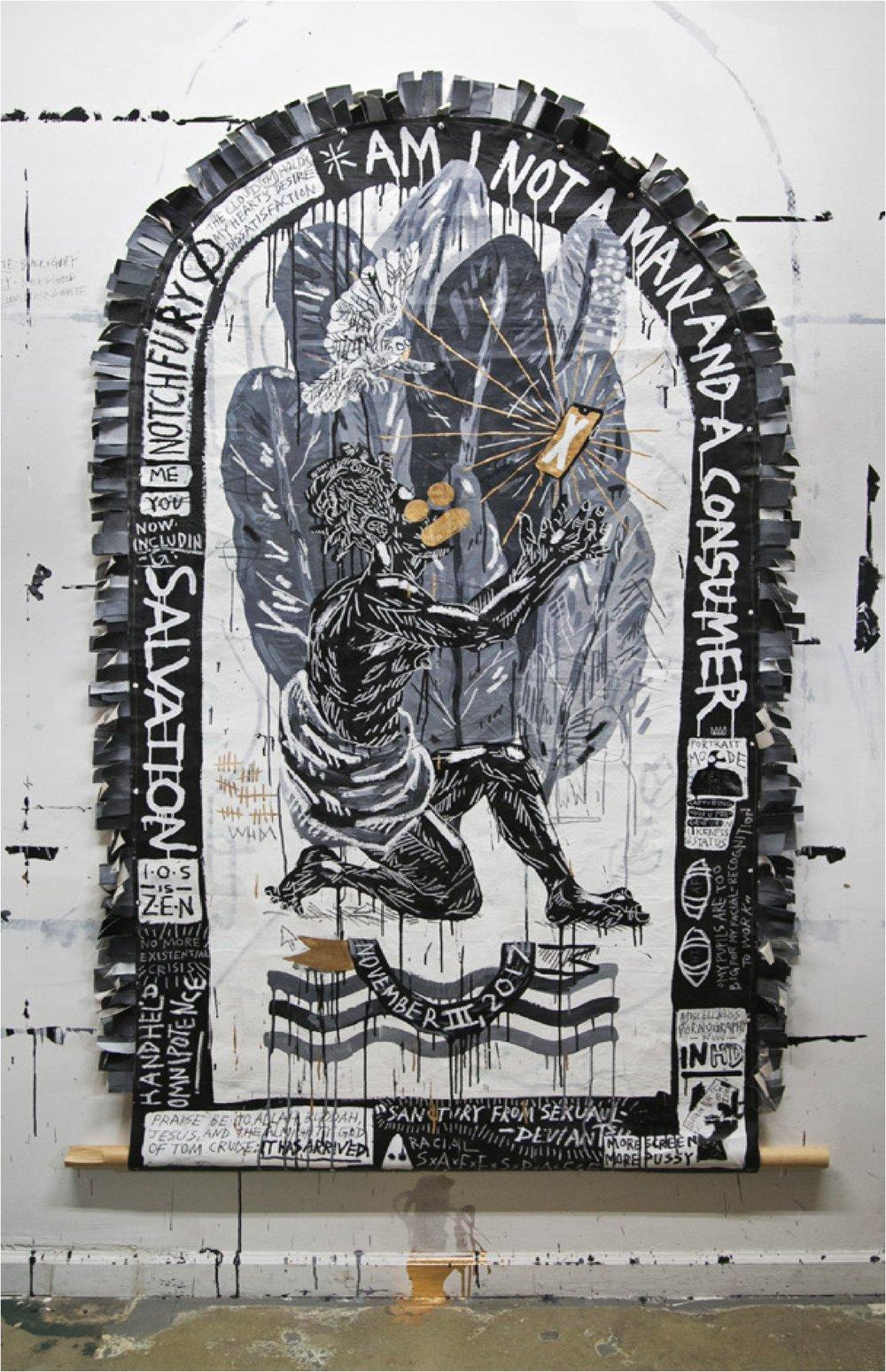 Studio View: ' The Ascension' , studio view Louis De Villiers, 2018 Brooklyn, NY.