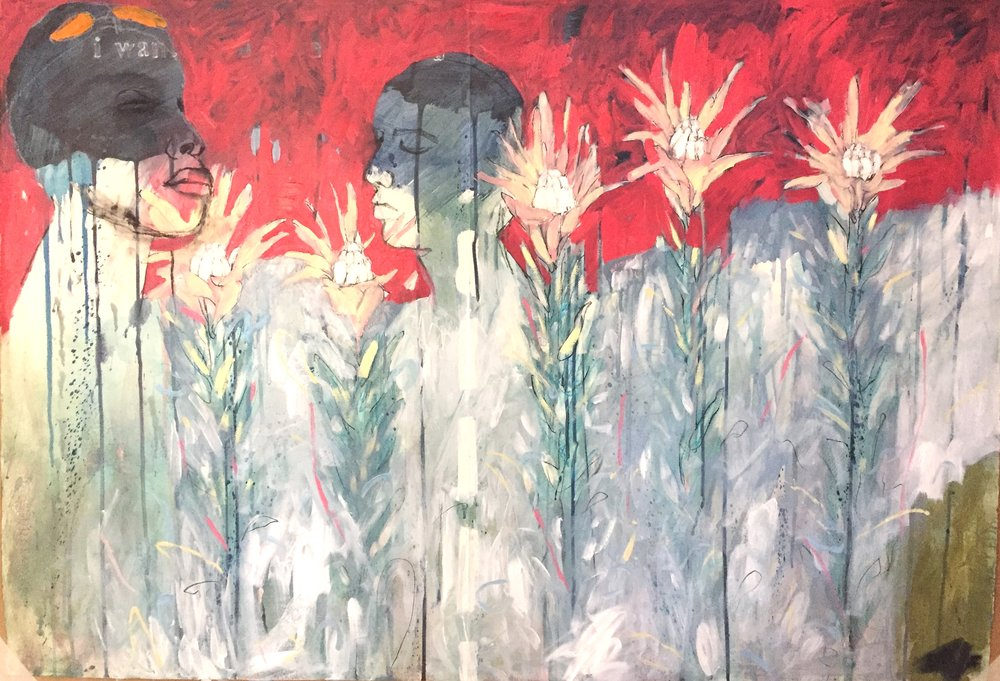 Ondi Ku Hole         Jo Rogge  Oil on Canvas     1000 x 760 x 30 mm  R 14 000.00 excl. vat