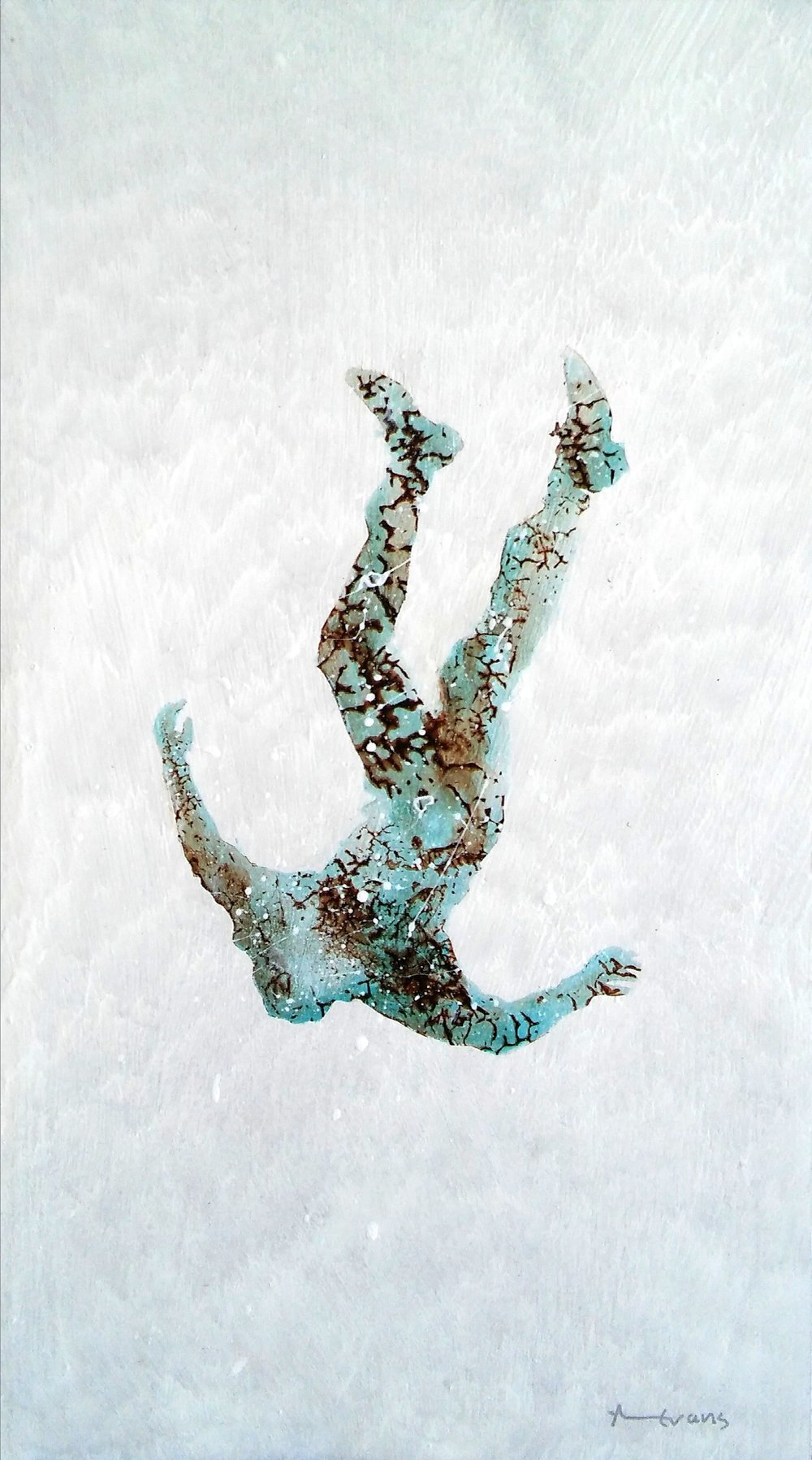 Freefall   1-3         Anthony Evans   Acrylic on MDF board with resin      400 x 220 mm      R 4 000.00 excl. vat