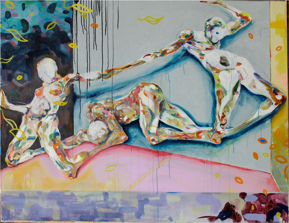 Body  Constellation in Space   Philipp Pieroth  Mixed Media on Canvas     1405 x 1810 x 35 mm  R 55 000.00 excl. vat