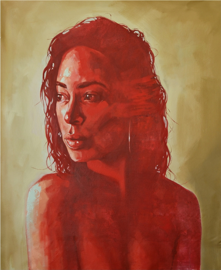 Portrait  of Lisa Robertson   Caelyn Robertson  Oil on Canvas  1200 x 1500 x 45 mm     R 30 000.00 excl. vat