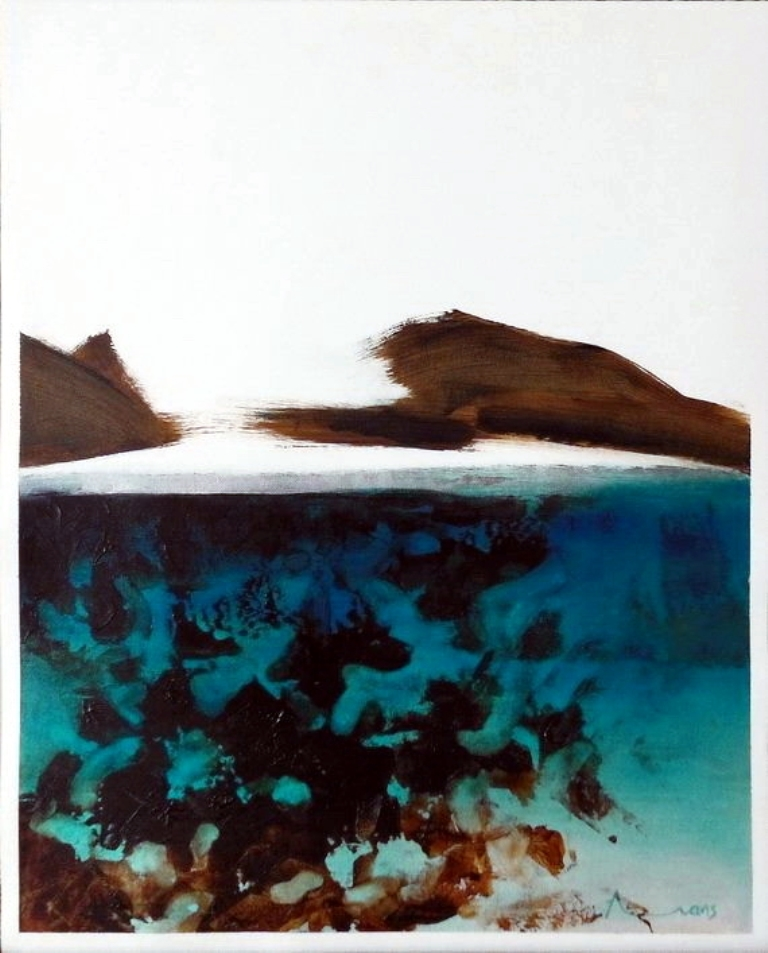 Intangible  Blue         Anthony Evans   Oil and Acrylic     400 x 500 mm  R 6000.00 excl. vat