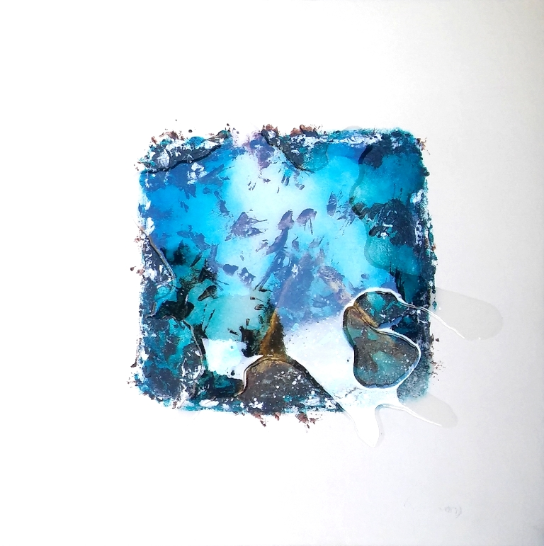 Edge of The Line   Anthony Evans  Mixed Media and Resin  510 x 510 mm  R 6 000.00 excl. vat