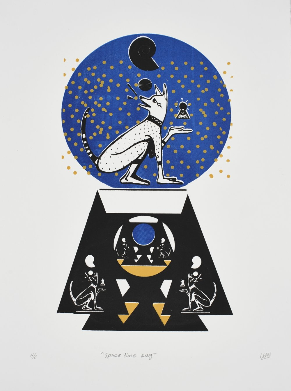 Space Time King   Mr Lean  Silkscreen on paper  Edition of 44  R 3 200.00 excl. vat