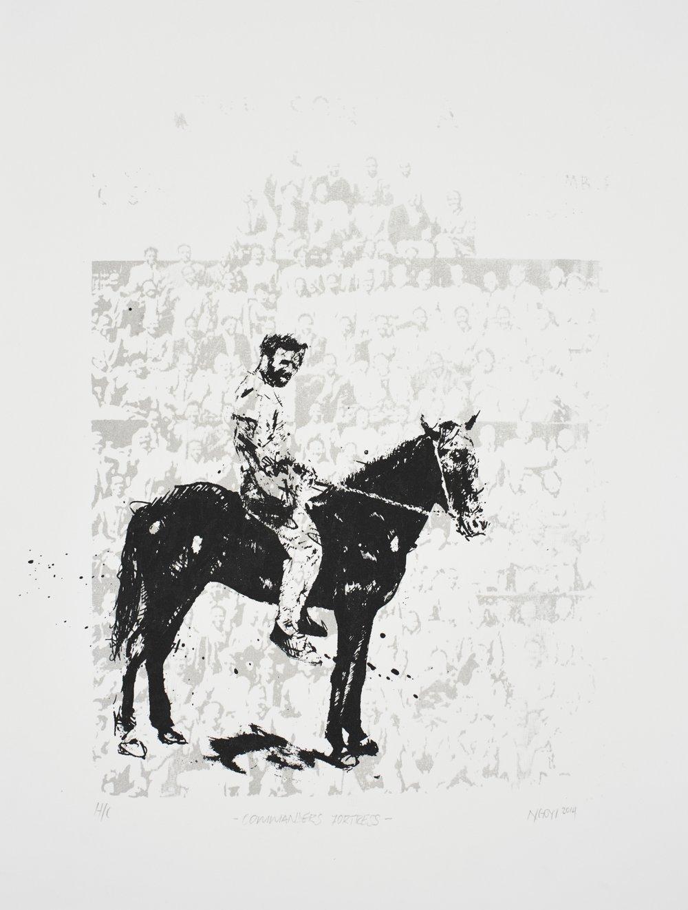 Commander's Fortress   Minenkulu Ngoyi  Silkscreen on paper  Edition of 44   R 3 200.00 excl. vat